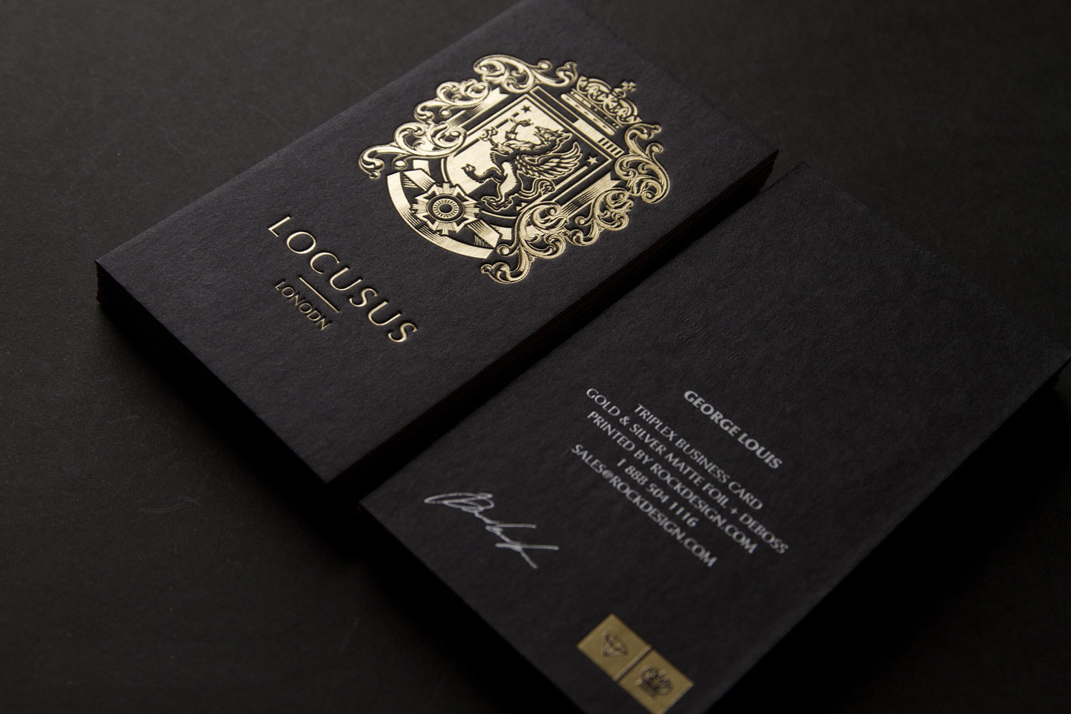Locusus London Gold Foil Pinterest Business cards and Logos