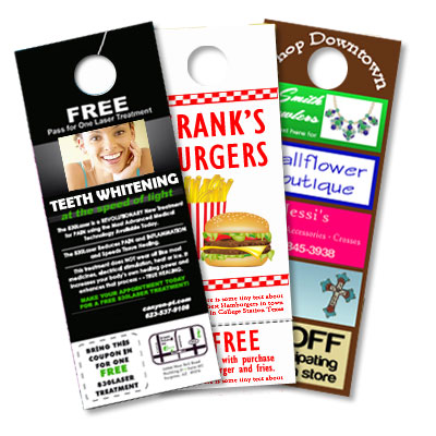 Door hanger printing uk custom door hanger beeprinting for 10000 door hangers