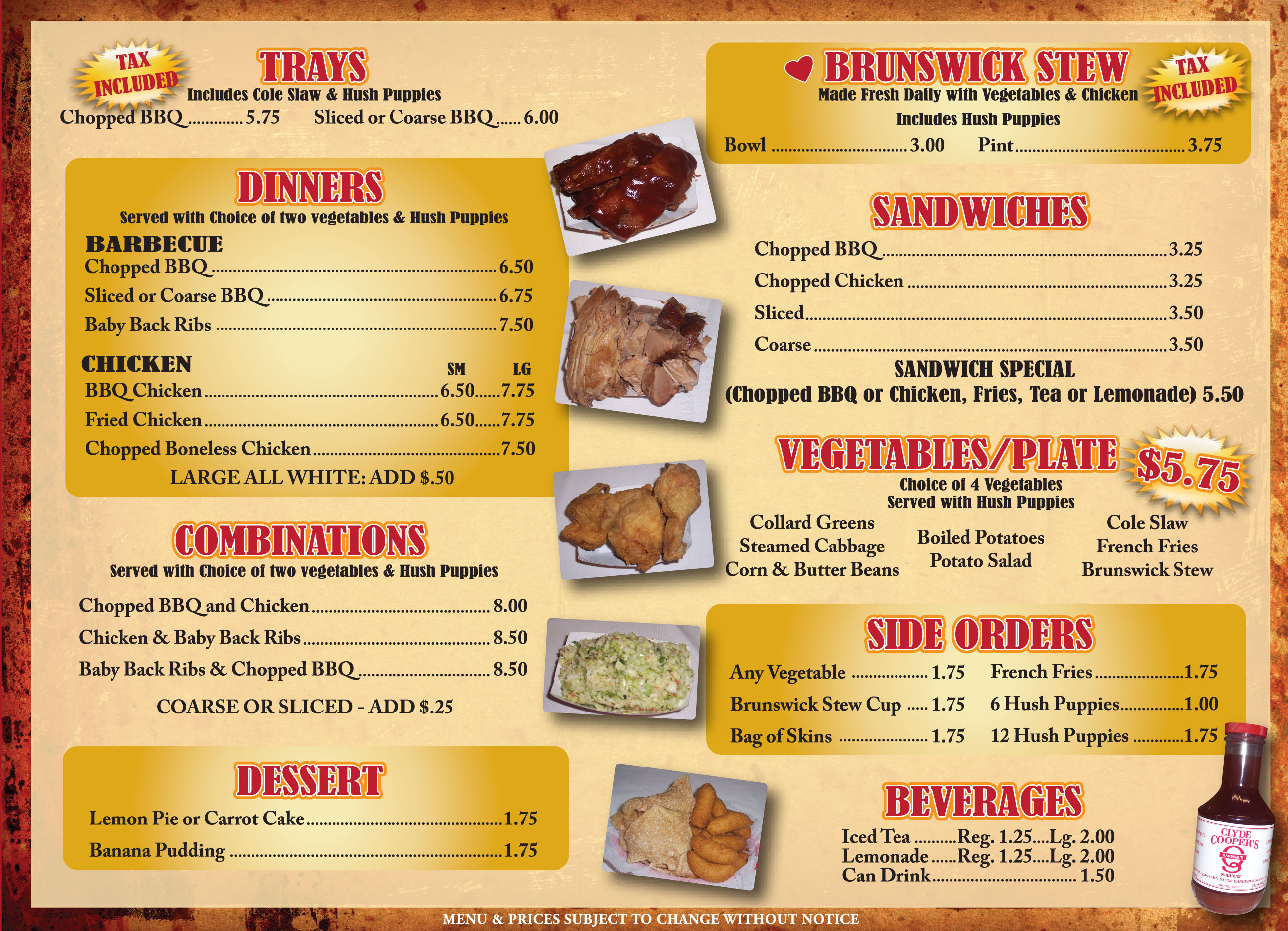 Mexican Grill Food Menu