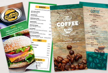Restaurant menus Printing UK