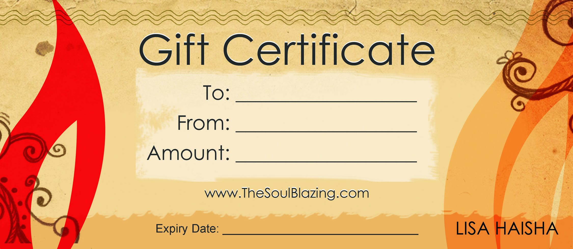 restaurant gift certificates printing