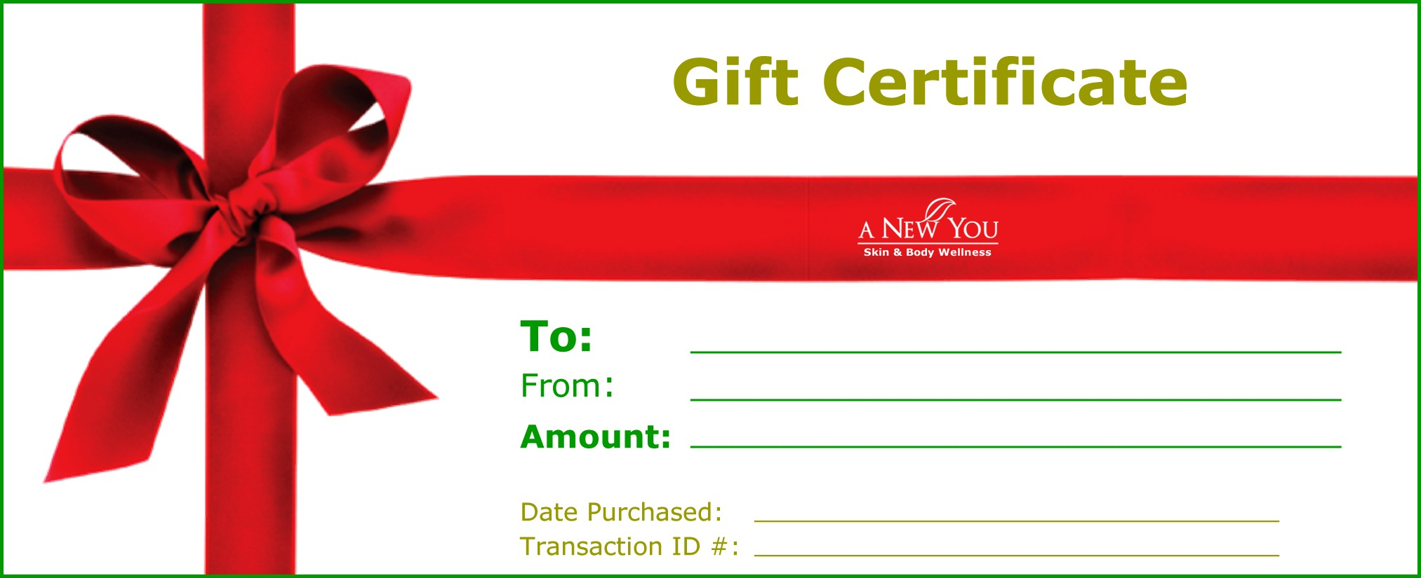 restaurant gift certificates printing