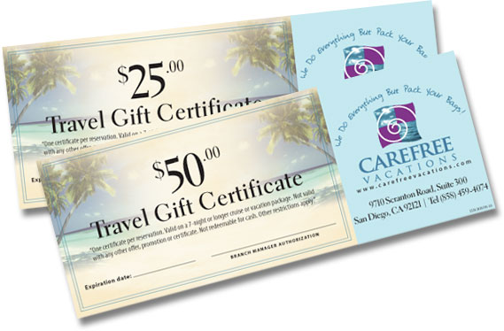 travel gift certificate template free