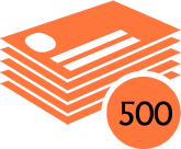 500 Compliment Slips
