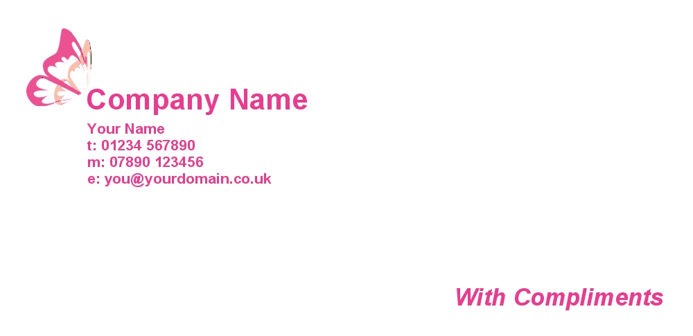 personalised with compliment slips printing in london